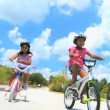 Healthy Lifestyle Cycling of Young Ethnic Family — Vídeo de stock