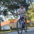 Senior Couple Healthy Cycling Lifestyle — Vídeo de stock