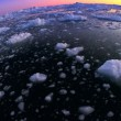 Arctic Sunset in Wide Angle — Stok video