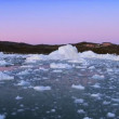 Colours at Dusk over Ice Floes — Stockvideo