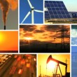 Montage of Contrasting Environmental Conditions - Stock Photo