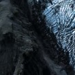 Aerial View of Icelandic Glacier & Volcanic Ash, Iceland — Stock Video
