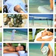Royalty-Free Stock Vektorfiler: Montage of Spa Treatment & Relaxation