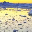Stock Video: Sun Setting over Glacaial Ice