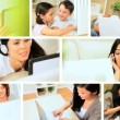 Montage of Modern Wireless Technology Used in the Home - Stock Photo