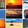 Stock Video: Montage Contrasting Effect of ClePower & Fossil Fuel Pollution