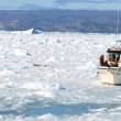 Stock Video: Nautical Vessel in Seof Frozen Ice