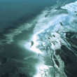 Aerial View of Glacial Meltwater in River Deltas, Arctic Region — Stock Video