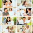 Montage of Wireless Technology in the Home - Stock Photo