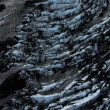 Aerial View of Blue Ice Crevices,Iceland — Stock Video