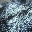 Aerial View of an Arctic Glacier Black with Volcanic Ash, Iceland — Stock Video