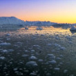 Dusk Over Frozen Arctic Glacial Ice — Stockvideo