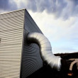 Stock Video: Buildings & Chimneys at Geothermal Power Station