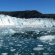 Stock Video: Arctic Glacier Stretching across Frozen Sea