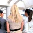 Stock Video: Smart Multi Ethnic Business Team Going to Meeting