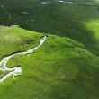 Aerial View of Large Waterfall, Iceland — Видео