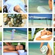 Montage of Relaxation & Spa Treatment — Stok video
