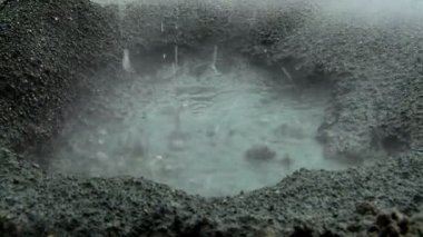 Close up Of Underground Volcanic Springs Reaching the Surface — Stock Video