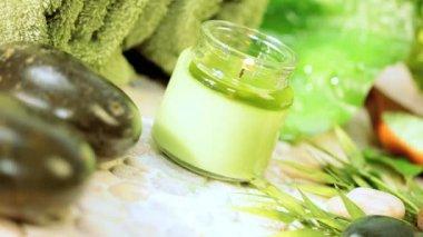 Alternatywne leczenie produktów do promowania relaksu — Wideo stockowe