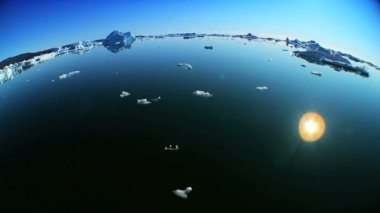 Drift Ice Produced Climate Change — Stock Video