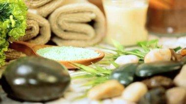 Alternativní terapie produkty na podporu relaxace — Stock video