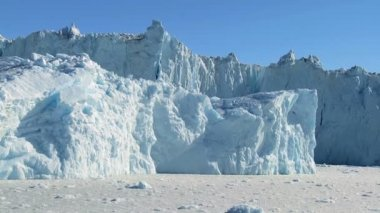 Ice Cliffs Formed by Ice Glaciers — Stock Video