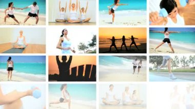 Montage of Luxury Health & Fitness Female Lifestyles — Stock Video