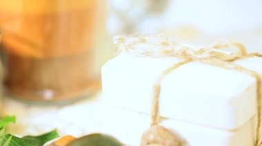 Spa Candles, Stones, Salts & Soap — Vídeo de stock