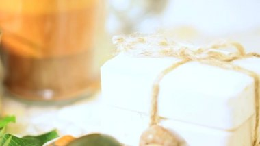 Spa Candles, Stones, Salts & Soap — Stock Video
