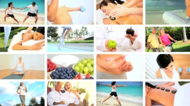 Montage of Living a Healthy Lifestyle — Stok video