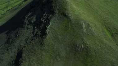 Aerial View of Rgged Volcanic Ridges, Iceland — Stock Video