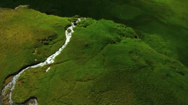 Aerial view of Glacial Meltwater Waterfall, Iceland — 图库视频影像 #23257002