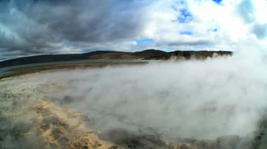 Swirling Steam from Hot Volcanic Springs — ストックビデオ