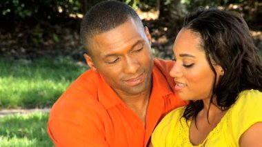 Portrait of a Loving Young Ethnic Couple Outdoors — Stock Video