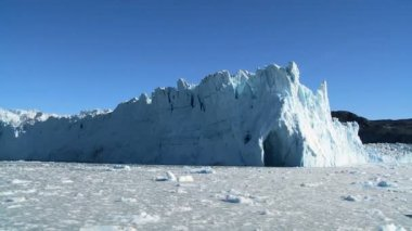 Effects of Climate Change on a Glacier — Stock Video