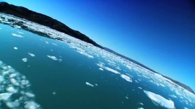 Frozen Sea Ice in Wide-Angle — Stock Video