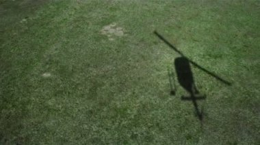 Shadow of Helicopter Landing. — Stock Video