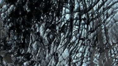 Aerial View of Volcanic Dust Layer on Glaciers, Iceland — Stock Video