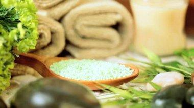 Refah teşvik için ürünler pampering spa — Stok video