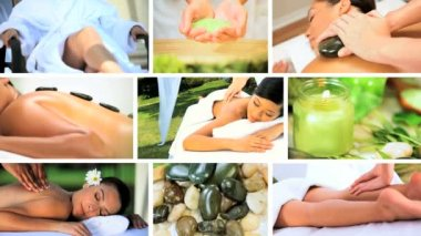Montage of Luxury Spa Treatment Lifestyle — Stock Video