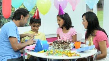 Asian Birthday Boy Receiving Birthday Gift — Stock Video