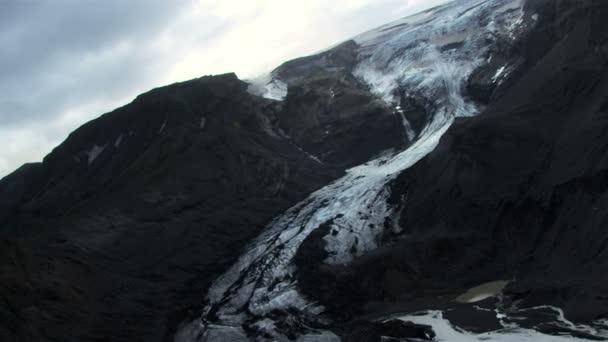 Aerialview d'un glacier de glace massive, islande — Vidéo
