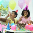 Young Ethnic Girl Enjoying Birthday Celebrations — Stock Video #23260042