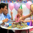 Young CaucasiChildren Enjoying Birthday Celebrations — Stock Video #23260560