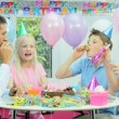 Young CaucasiGirl Enjoying Birthday Celebrations — Stock Video #23260568