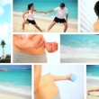 Montage of  Healthy Lifestyle Exercise - Stock Photo