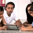 Young Asian Family Having Fun with  Wireless Tablet — Stock Video