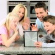 Caucasian Family Using Online Video Chat with Relatives — Stock Video #23261130