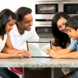 Asian Family Playing on Wireless Tablet — Stock Video #23261668