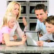 Caucasian Family Using Online Video Chat with Relatives — Stock Video #23262244